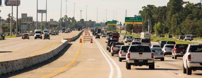 The I-45 HOV northbound lane opened the morning of Oct. 31, completing the long-awaited project.