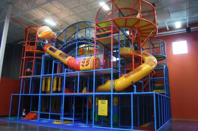 Urban Air Trampoline & Adventure Park features a wall-to-wall trampoline arena and indoor playgrounds.