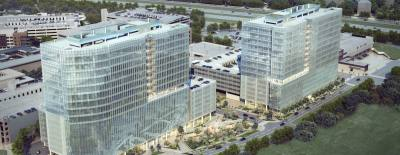 Endeavor Real Estate Group is developing the Domain 11 and Domain 12 office towers.