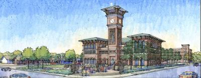 Grapevine's TEX Rail station will be at the corner of Main Street and Dallas Road.
