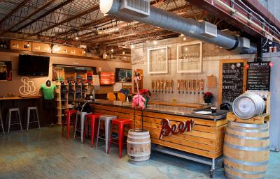 Strange Land Brewery offers one-off beer, changing each week, and local staples.