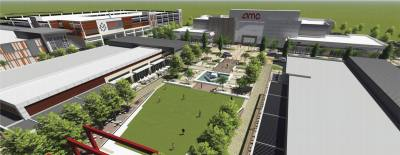 The AMC-10 screen movie theater in MetroPark Square is scheduled to open this May.