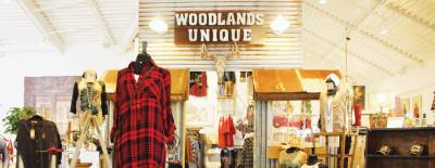 Woodlands Unique carries womenu2019s clothing, college wear and shoes.
