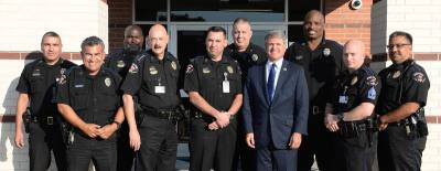 U.S. Rep. Michael McCaul visited the Cy-Fair ISD police department during his 2016 Back the Blue tour.