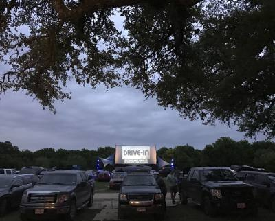 The Blue-Starlite Mini Urban Drive-In has relocated its pop-up location to Vulcan Video in South Austin.