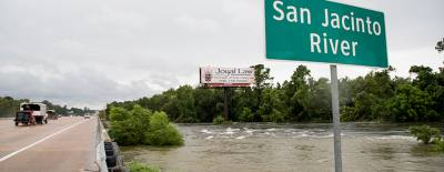Rising floodwaters along the San Jacinto River severely affected some Lake Houston area residents and businesses.