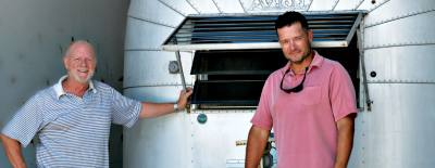 Co-owners Jay Zoern (left) and Jonathan White have built five tiny homes since 2016.