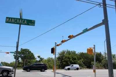 Construction on intersection improvements at Manchaca and Stassney is nearly complete.