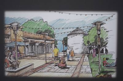 Hutto city officials and developers displayed several speculative design plans for the Co-Op District development.