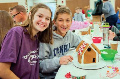 The Gingerbread for Humanity event benefits Habitat for Humanity.