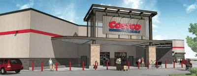 A rendering of the Pflugerville Costco store.