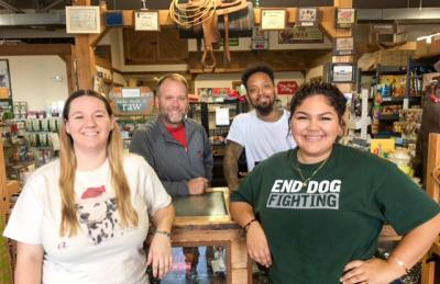 Owner Brett Birdsong (second from the left) opened Pet Country in Missouri City in 1995.