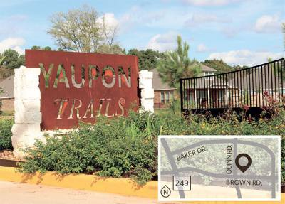 Construction is ongoing at Yaupon Trails in northeast Tomball developed by Benson Development LLC.