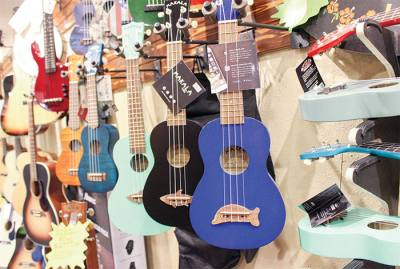 Arbor Music in Magnolia offers a selection of ukuleles.