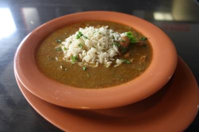 Catfish Station's menu features chicken and sausage gumbo.