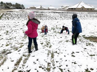 Cy-Fair residents share snapshots after a Dec. 7 snowfall.