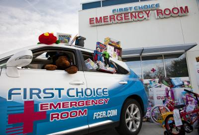 First Choice Emergency Rooms throughout Austin will accept donations for Toys for Tots through Dec. 9