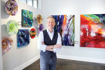 David Call, an interior designer, is the galleryu2019s creative director.