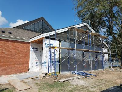 First United Methodist Church in Pearland finished expanding its narthex in October.