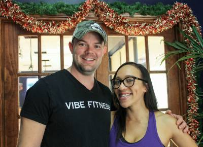 Husband-and-wife team Luke (left) and Ashlie Holdorf founded Vibe Fitness in 2016.