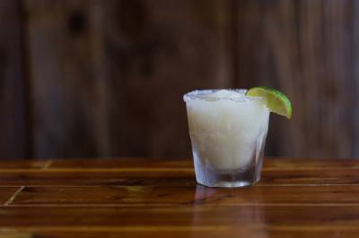 A margarita from Waterloo Ice House is featured in Burnet Road Eats