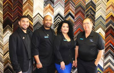 The store staff includes,  from left, Damien Johnson, Keith Johnson, Melissa Johnson and Bill Gerdes.
