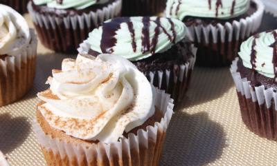 Vegan chocolate and carrot cupcakes are sold daily at Skull & Cakebones.