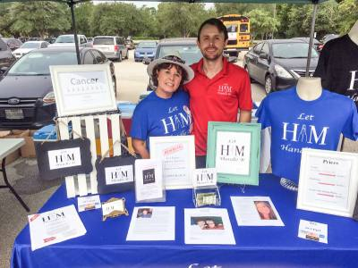Donna Smith (left) and her son Derrick (right) founded Let Him Handle It in 2017 to help cover medical bills for cancer patients in need.
