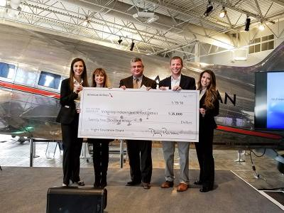 American Airlines presented McKinney ISD with $25,000 for its aviation program Jan. 19.