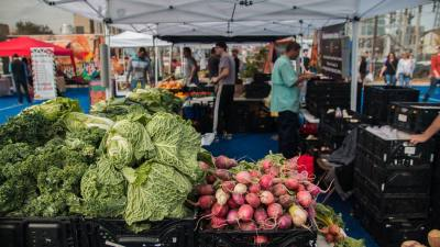 The Blue Field Market offers fresh produce, local craftsman and live music.