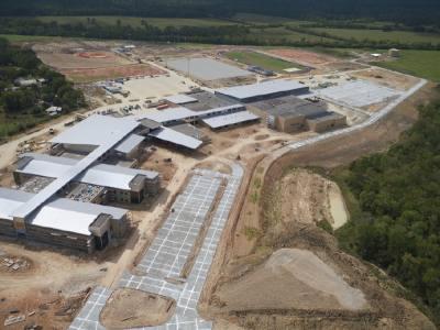 Construction of Montgomery ISDu2019s new high school, Lake Creek High School, is underway near FM 2854.
