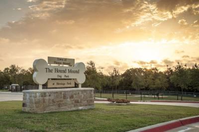Flower Mound staff is considering adding lighting at the Hound Mound Dog Park.