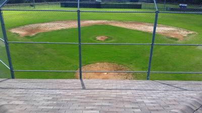 Austin Roofing and Construction donated a roof to a baseball facility in Garrison Park in November.
