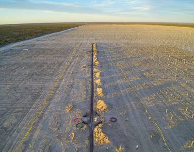 Construction on a 150-megawatt solar farm in West Texas is expected to finish by July 2018.