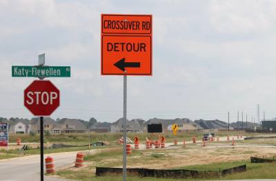 The Spring Green Boulevard roundabout is under construction.