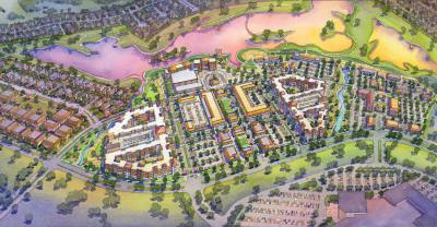Construction on the first apartment complex will begin soon at Katy Boardwalk District.