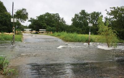 Heavy rains in August 2017 caused roadway flooding near Cypress Lane and Peace Tree Lane in Cedar Park.