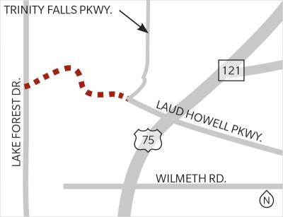 The Laud Howell Parkway extension is expected to begin in March.
