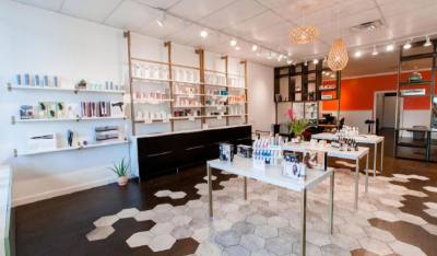 Sentrel Natural Beauty hosts an Earth Day event with neighboring yoga studio, Studio Mantra