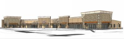 A rendering shows the preliminary design for a Stuebner Airline Road property purchased by Retail Properties Group.