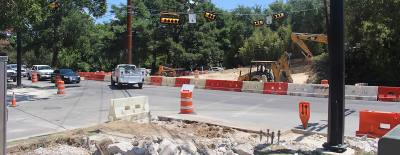 Ongoing transportation projects include the overpass at Aquarena Springs Road.