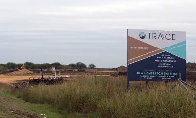 Mixed-use development Trace, located off I-35 on Posey Road, will see its first homes ready this spring.