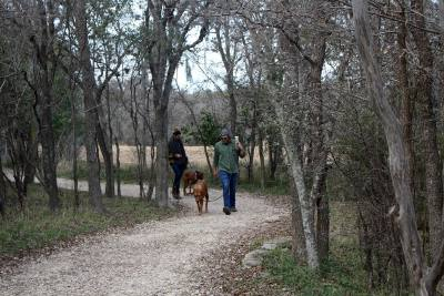 There are nine trails to explore in the Purgatory Creek Park Nature Reserve.