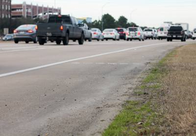 Texas drivers are permitted to travel on an u201cimproved shoulder,u201d or a paved shoulder, in some cases if determined necessary and if it can be completed safely, according to Section 545.058 of the Texas Transportation Code.
