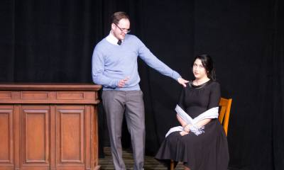 A local theater group celebrates opening night of 'Same Time Next Year' on Friday.