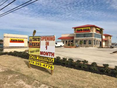 Taco Casa is set to open on Barker Cypress Road in early 2018.
