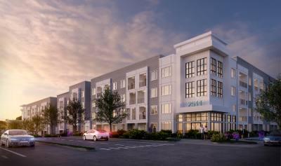 The Copeland apartment complex is under construction at 2511 W. Braker Lane, Austin.