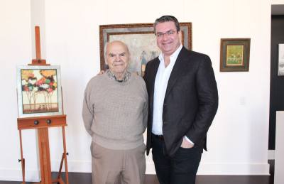 David Adickes (left) and Glade Gallery owner Dragos Tapu (right) will open the Glade Gallery Foundation in January.