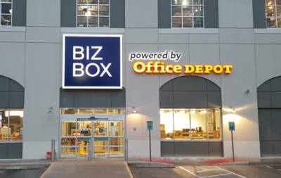 BizBox will open its first brick-and-mortar location at the downtown Office Depot Jan. 30.