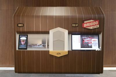 Briggo sells coffee from an app-based, robotic coffee system, called a Coffee Haus.